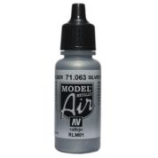 VALLEJO MODEL AIR ACRYLIC PAINT SILVER 71063