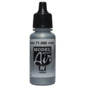 VALLEJO MODEL AIR ACRYLIC PAINT STEEL 71065