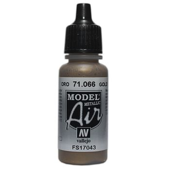 VALLEJO MODEL AIR ACRYLIC PAINT GOLD 71066