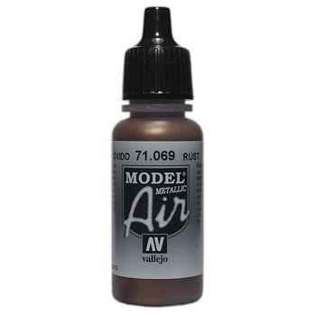 VALLEJO MODEL AIR ACRYLIC PAINT METAL RUST 71069
