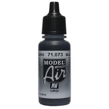VALLEJO MODEL AIR ACRYLIC PAINT BLACK METALLIC 71073