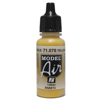 VALLEJO MODEL AIR ACRYLIC PAINT GOLD YELLOW 71078