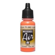 VALLEJO MODEL AIR ACRYLIC PAINT FLURESCENT RED 71082