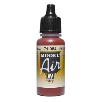 VALLEJO MODEL AIR ACRYLIC PAINT FIRE RED 71084