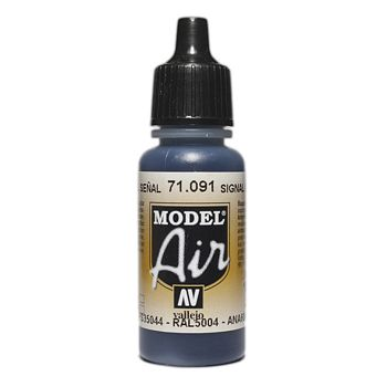 VALLEJO MODEL AIR ACRYLIC PAINT SIGNAL BLUE 71091