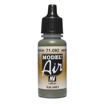 VALLEJO MODEL AIR ACRYLIC PAINT MED GREEN 71092