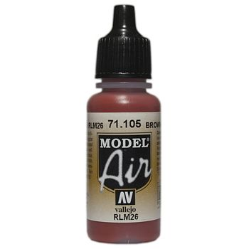 VALLEJO MODEL AIR ACRYLIC PAINT BROWN 26 71105