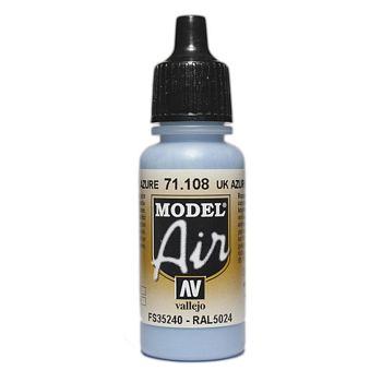 VALLEJO MODEL AIR ACRYLIC PAINT UK AZURE 71108