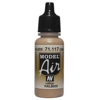 VALLEJO MODEL AIR ACRYLIC PAINT CAMO BROWN 71117