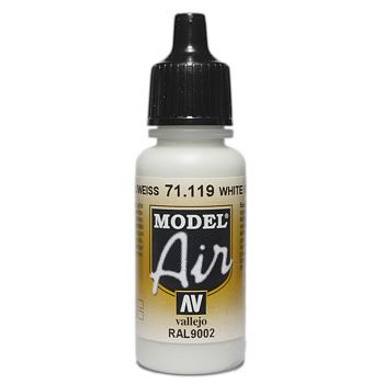 VALLEJO MODEL AIR ACRYLIC PAINT WHITE GREY 71119
