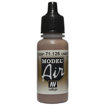 VALLEJO MODEL AIR ACRYLIC PAINT USAF BROWN 71125