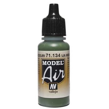 VALLEJO MODEL AIR ACRYLIC PAINT MIDOURI GREEN 71134
