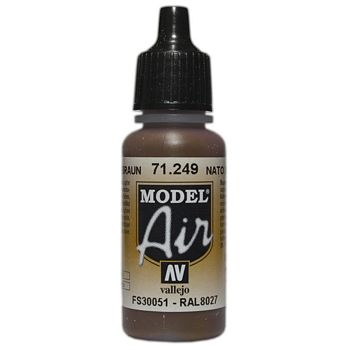 VALLEJO MODEL AIR ACRYLIC PAINT NATO BROWN 71249