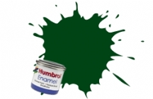 195   HUMBROL ENAMEL PAINT DARK GREEN SATIN