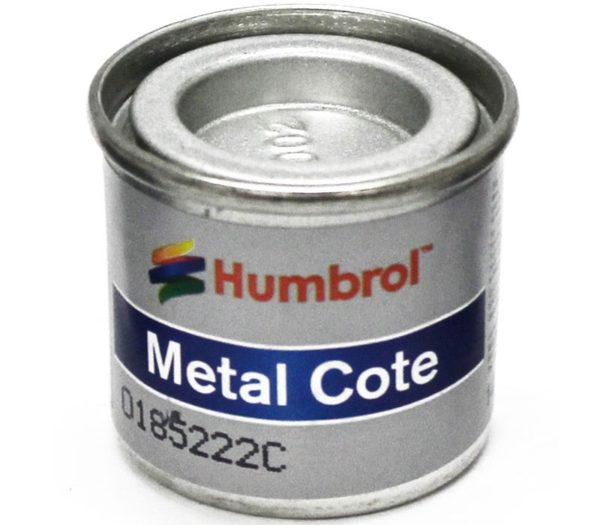27002   HUMBROL ENAMEL PAINT METAL COTE POLISHED ALUMINIUM