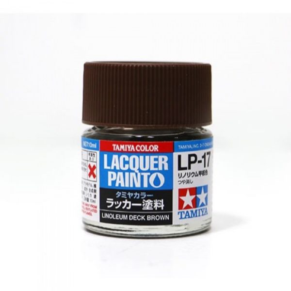 LP17 TAMIYA LACQUER PAINT   LINOLEUM DECK BROWN