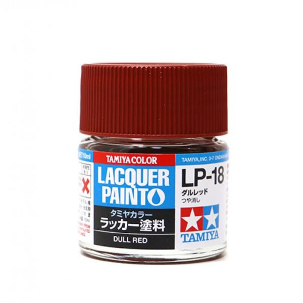 LP18 TAMIYA LACQUER PAINT   DULL RED