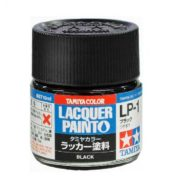 LP1 TAMIYA LACQUER PAINT   BLACK