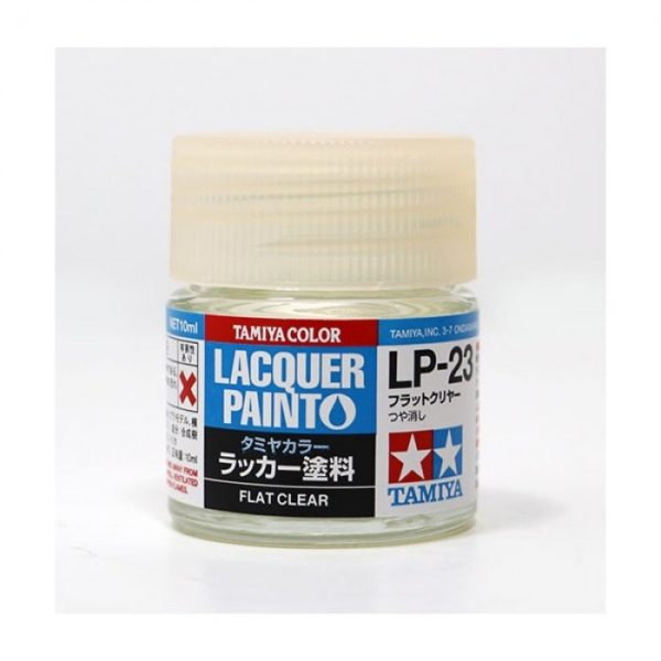 LP23 TAMIYA LACQUER PAINT   FLAT CLEAR