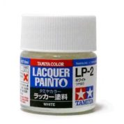 LP2 TAMIYA LACQUER PAINT   WHITE