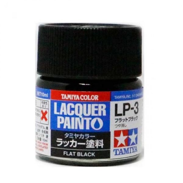 LP3 TAMIYA LACQUER PAINT   FLAT BLACK