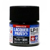 LP5 TAMIYA LACQUER PAINT   SEMI GLOSS BLACK