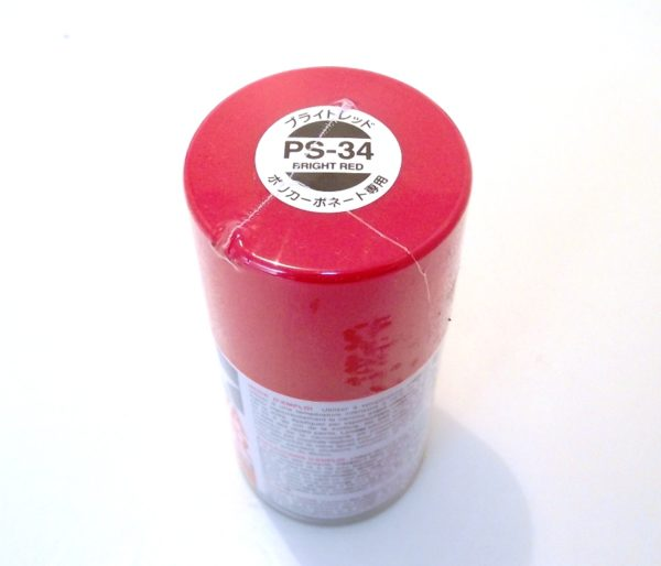 PS-34   TAMIYA POLYCARBONATE PAINT BRIGHT RED