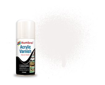 049 HUMBROL ACRYLIC SPRAY PAINT    VARNISH MATT 150ml