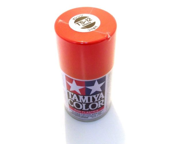 TS-12   TAMIYA ACRYLIC SPRAY PAINT  ORANGE