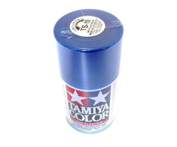 TS-19   TAMIYA ACRYLIC SPRAY PAINT  METALLIC BLUE