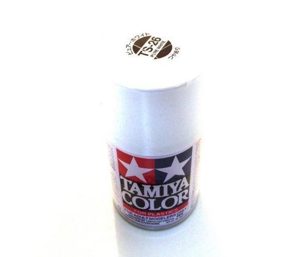 TS-26   TAMIYA ACRYLIC SPRAY PAINT  PURE WHITE
