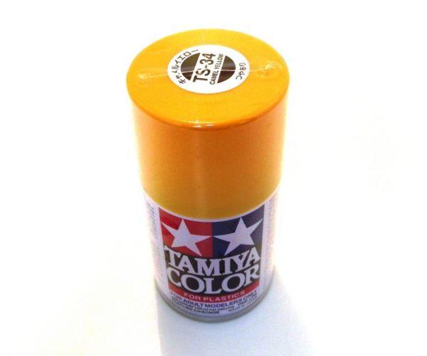 TS-34   TAMIYA ACRYLIC SPRAY PAINT  CAMEL YELLOW