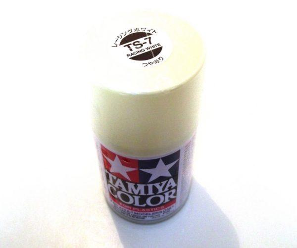 TS-7   TAMIYA ACRYLIC SPRAY PAINT  RACING WHITE