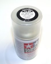 TS-80   TAMIYA ACRYLIC SPRAY PAINT  FLAT CLEAR