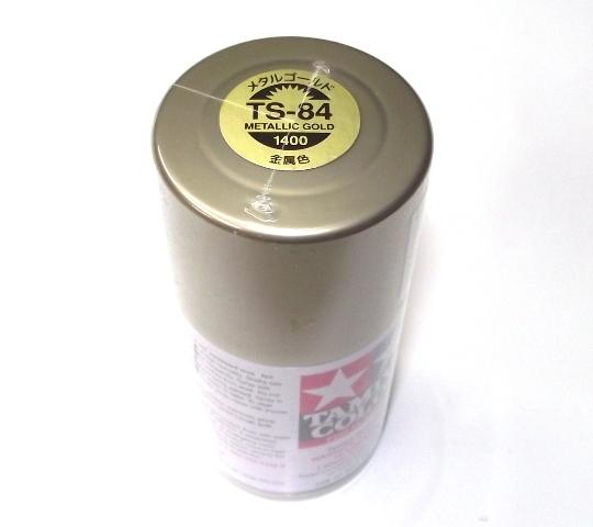 TS-84   TAMIYA ACRYLIC SPRAY PAINT  METALLIC GOLD
