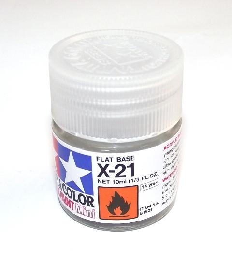 X-21   TAMIYA ACRYLIC PAINT FLAT BASE