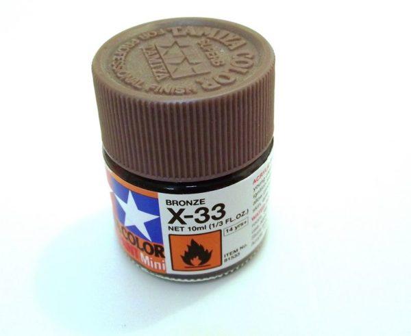 X-33   TAMIYA ACRYLIC PAINT BRONZE