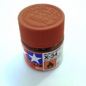 X-34   TAMIYA ACRYLIC PAINT METALLIC BROWN