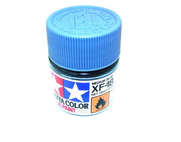 XF-18   TAMIYA ACRYLIC PAINT MEDIUM BLUE