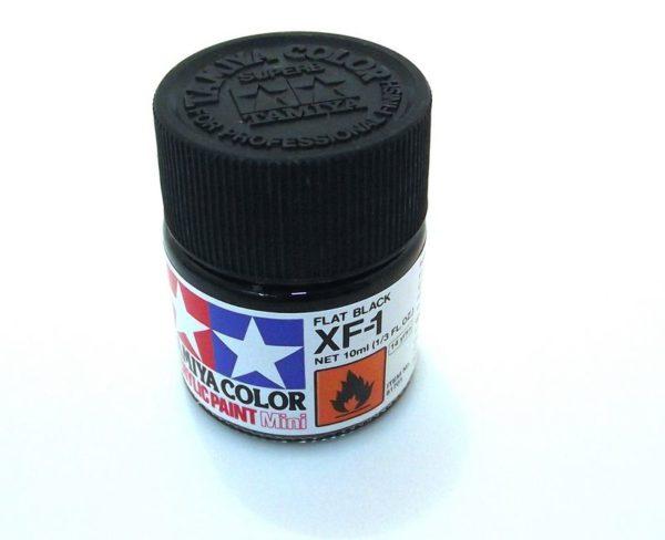 XF-1   TAMIYA ACRYLIC PAINT FLAT BLACK