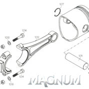 46866 (MAGNUM ENGINE PART) THROTTLE LEVER XL40-53A