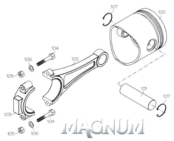 108210 (MAGNUM ENGINE PART) CRANKSHAFT XL108 / 120