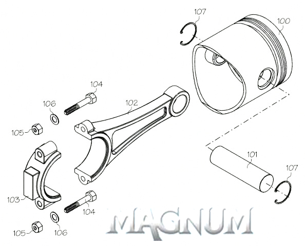 120103A (MAGNUM ENGINE PART) CYLINDER HD XL120 NEW VERSION