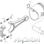 S32203 (MAGNUM ENGINE PART) CYLINDER LINER/PISTON ASSY 28A