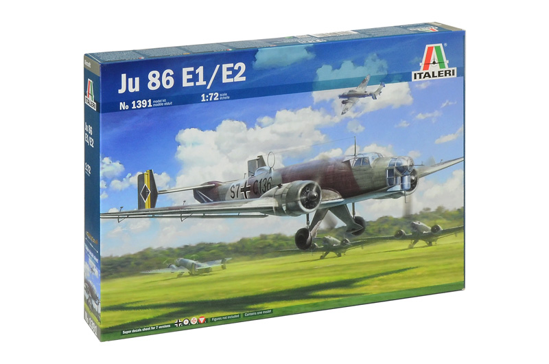 JU 86 E1/E2 1/72 ITALERI Plastic Model Kit (1391)