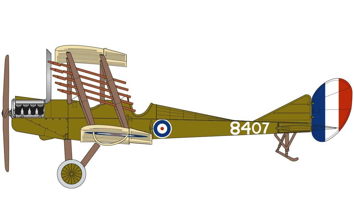 1//72 NIGHT FIGHTER AIR02101 Airfix ROYAL AIRCRAFT FACTORY BE2c New