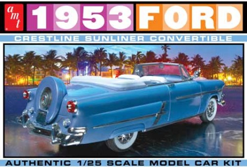 1:25 53 FORD CONVERTIBLE Plastic Model Kit AMT (RAMT1026)