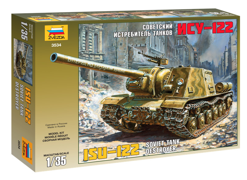 ZVEZDA 1/35 ISU-122 Plastic Model Kit 3534