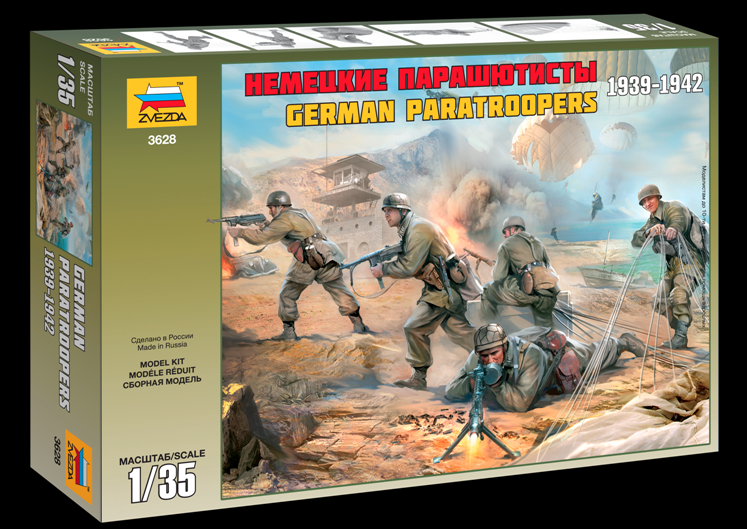 ZVEZDA 1/35 GERMAN TROOPS WW2 Plastic Model Kit 3628