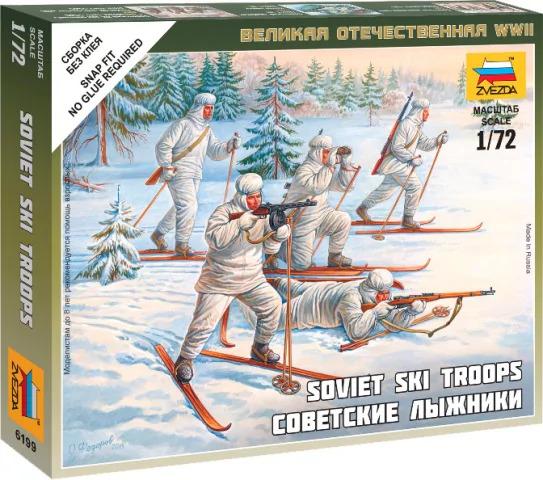 ZVEZDA 1/72 SOVIET SKIET Plastic Model Kit 6199